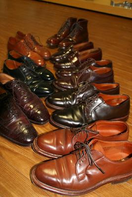 馬一頭から靴一足半から二足分しかとれない希少性とその重厚感で人気のコードヴァンシューズ。 今回はカラー別にお手入れ方法(ケア方法)とその色合わせをご紹介し